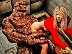 picture #3 ::: Innocent sexy 3D girls getting violated by monsters with massive dicks