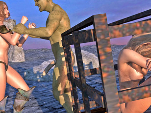 picture #1 ::: Kinky little 3d whore likes being treated rough by a demented orc.