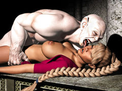 picture #1 ::: Ghastly beast licking hot blondes face