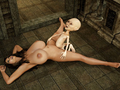 picture #1 ::: Her melons are perfect for torture 3d
