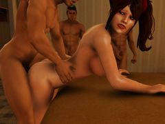 picture #2 ::: Rough fucking and hair pulling in 3D hd porn