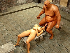 picture #4 ::: Long 3d anal monster cock destroying her hole
