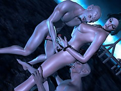 picture #4 ::: Monsters tentacles and cock sliding up babes hot body