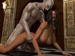 picture #1 ::: Sexy girl will fuck anything and monsters as well
