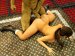 picture #3 ::: Cute babe fucked by minotaur with no mercy