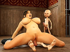 picture #5 ::: Cute babe fucked by minotaur with no mercy