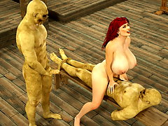 picture #6 ::: Cute babe fucked by minotaur with no mercy