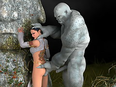 picture #1 ::: Evil 3d monster rapes a delicious little slut's ass.