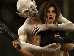 picture #3 ::: Adorable 3d slut moans while an evil demon is fucking her.
