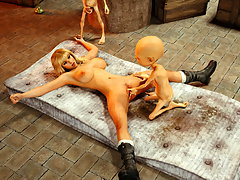 picture #3 ::: Blonde teen bound, gagged and fucked by monsters