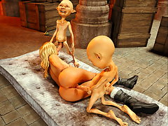 picture #4 ::: Horny 3D vixen gets ravaged by goblins with no mercy