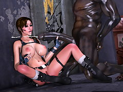 picture #1 ::: Kinky elf mistress abuses her tied up blond girl slave