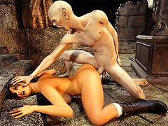 picture #2 ::: Tomb Raider captured during a raid by a perverted monster