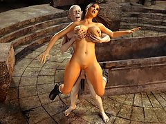 picture #3 ::: Tomb Raider captured during a raid by a perverted monster