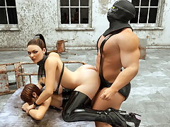 picture #3 ::: Poor human girl captured by a horny minotaur