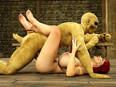 picture #6 ::: Poor human girl captured by a horny minotaur