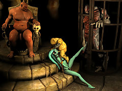 picture #1 ::: Tentacles and a dick for saucy Street Fighter chick