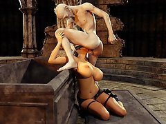 picture #2 ::: Gorgeous Lara has to satisfy vampire's lust if she wants to live