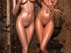 picture #1 ::: Curvy 3D elven babe doesn't mind sharing her hot curves
