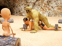 picture #3 ::: Evil 3D pussy pounding with Lara Croft and 3D ogres