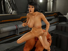 picture #5 ::: Prison banging with busty 3D slut and a nude guard