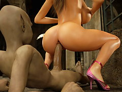 picture #4 ::: Provocative 3d bimbo ass fucked by a lustful beast