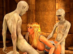 picture #3 ::: Army of evil skeletons pounding delicious busty gals