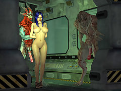 picture #2 ::: Kinky 3d comix showing tender hotties plowed by monsters