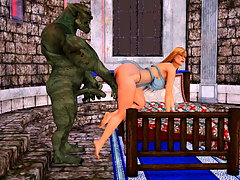 picture #4 ::: Tempting 3d bimbo fucks with an impure evil monster
