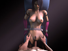picture #2 ::: Petite girly gets her insides rearranged by raging 3d werewolf dick