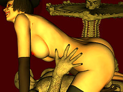 picture #4 ::: Petite girly gets her insides rearranged by raging 3d werewolf dick