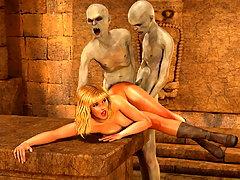 picture #3 ::: Elegant blonde hottie plowed by nasty undead vampires