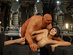 picture #2 ::: Craving 3d slut groans in agony while being impaled on a monster cock