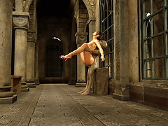 picture #2 ::: Imposing horny chick gets boned by foul monster in a church