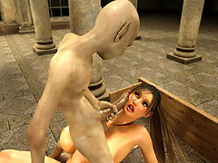 picture #3 ::: Tempting tender hottie bonked by a terrible 3d goblin