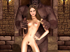 picture #3 ::: Emma Stone having sex with a green skinned orkish monster