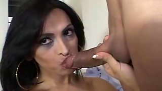 Naughty tgirl gives an awesome blowjob