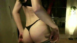 Raunchy brunette tranny seduces her fucker